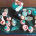 Luxury Cupcakes on Decorated Board