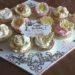 Buttercream Cupcakes on Decorated Board