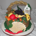 Harvest basket of vegetables cake