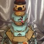 African hut themed wedding cake