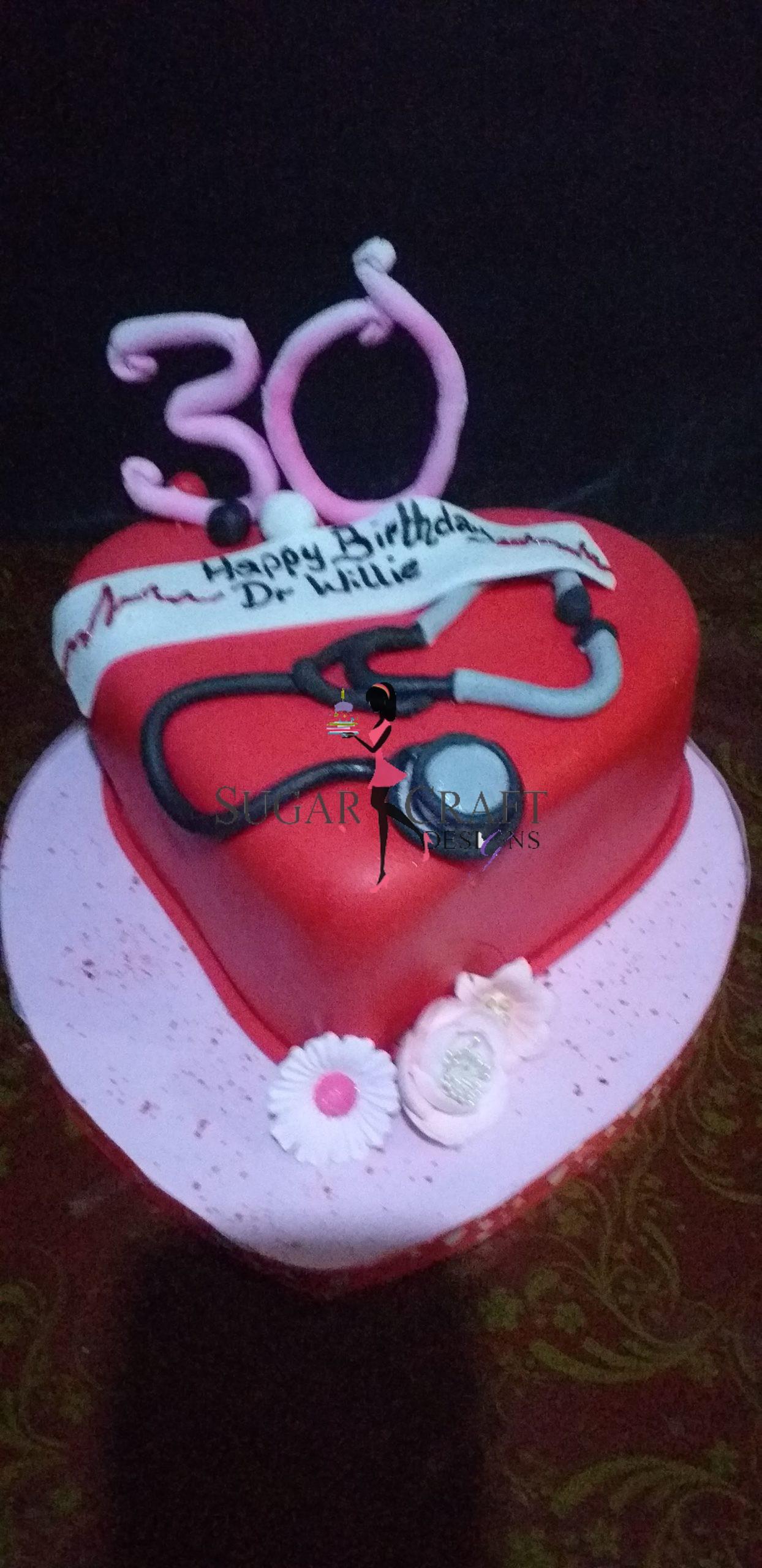 Stethoscope Cake